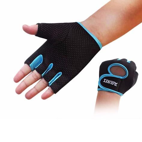 Перчатки для фитнеса Aolikes HQYGIYGQWS S Черно-голубой (gab_krp100fXsv51893), фото 2