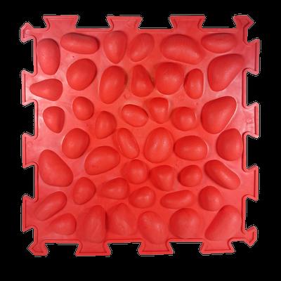 Коврик массажный Пазлы с эффектом морской гальки 1 элемент 26 х 26 см Красный (11k3699)