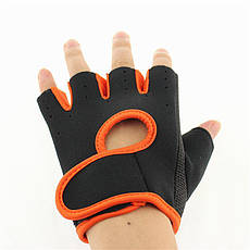 Перчатки для фитнеса OUHQSVGOIYG L Черно-оранжевый (gab_krp100RLAw51122), фото 2