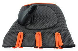 Перчатки для фитнеса OUHQSVGOIYG L Черно-оранжевый (gab_krp100RLAw51122), фото 3
