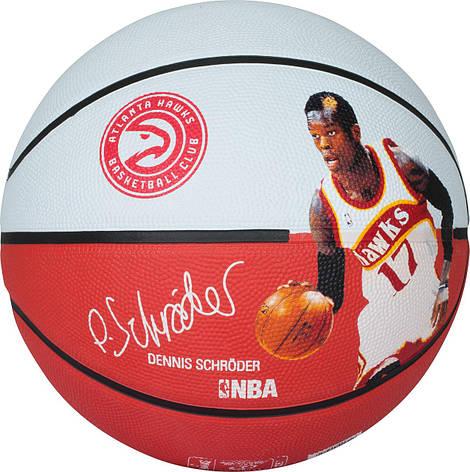 Мяч баскетбольный Spalding NBA Player Dennis Schroeder Size 7, фото 2