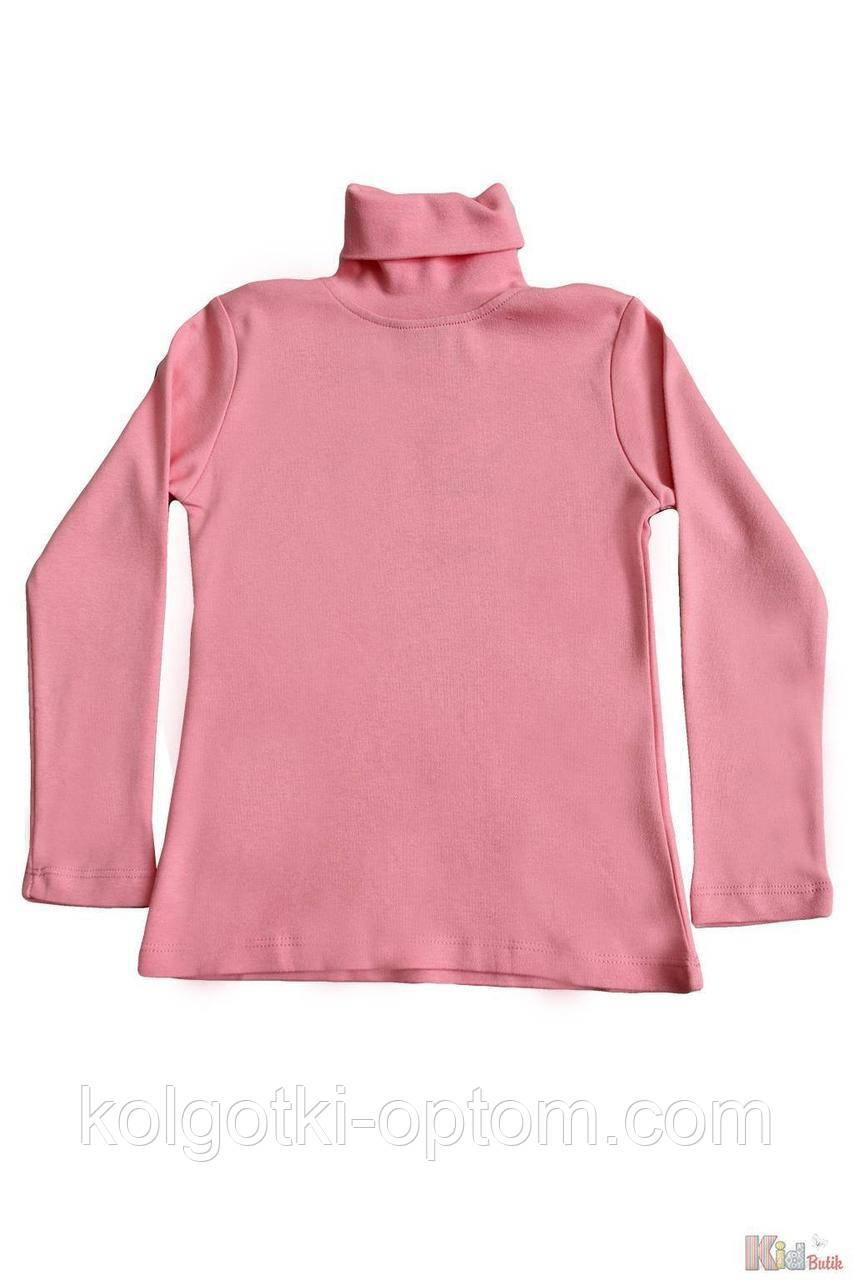ОПТОМ Упаковка (110-116-122-128)  Гольф розовый базовый для девочки Lovetti 1111000001917