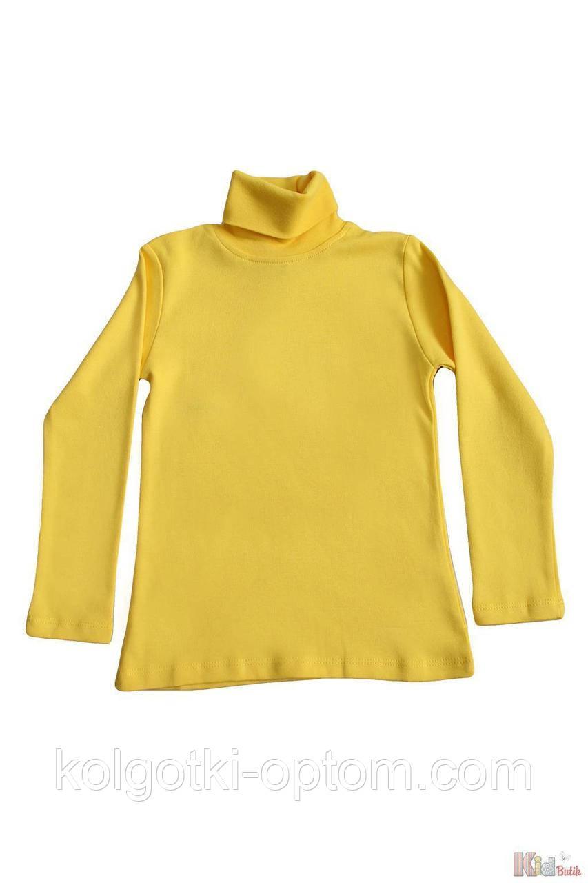 ОПТОМ Упаковка (158-164-170-176)  Гольф желтый базовый для старшей девочки-подростка Lovetti 1111000001863