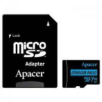 Карта пам'яті Apacer 256GB microSDHC class 10 UHS-I U1 V10 (AP256GMCSX10U7-R)