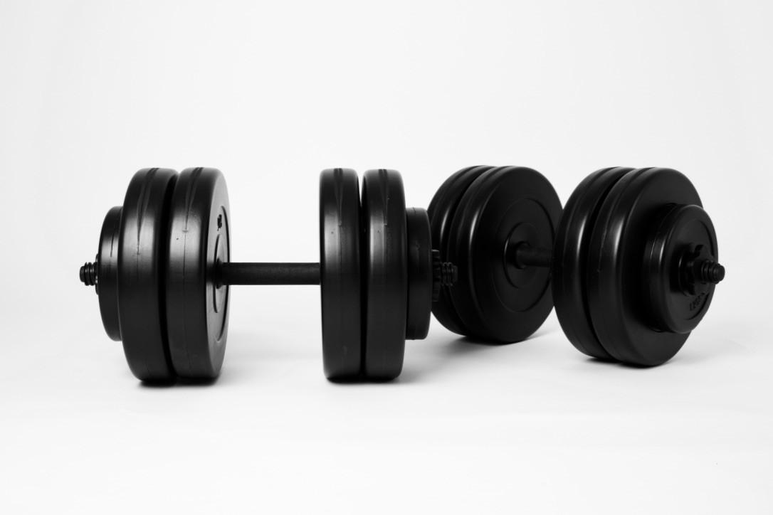 Гантели WCG 2х23 кг Черные (310.000.007)