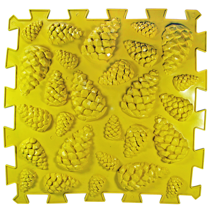 Коврик массажный Пазлы Шишки 1 элемент 26 х 26 см Желтый (11k3691)