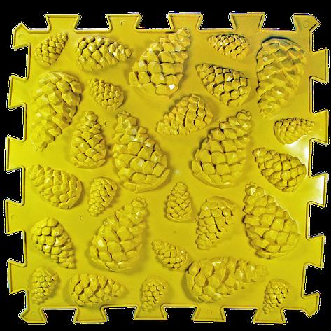 Коврик массажный Пазлы Шишки 1 элемент 26 х 26 см Желтый (11k3691), фото 2