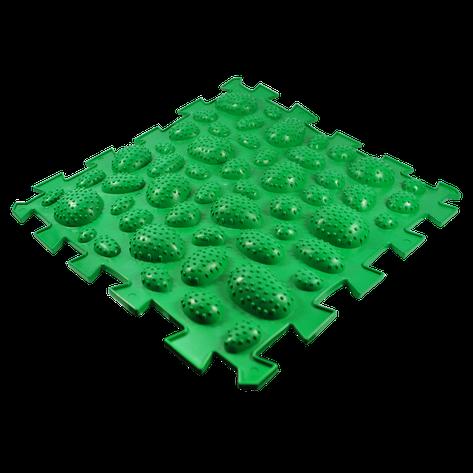 Коврик массажный Пазлы Ежики 1 элемент 26 х 26 см Салатовый (11k3695), фото 2