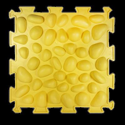 Коврик массажный Пазлы с эффектом морской гальки 1 элемент 26 х 26 см Желтый (11k3697)