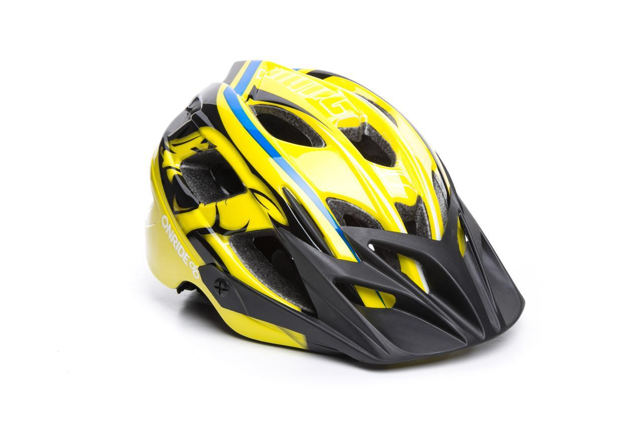 Шолом велосипедний OnRide Rider M Жовтий / блакитний / сірий (hub_EHlg14402)