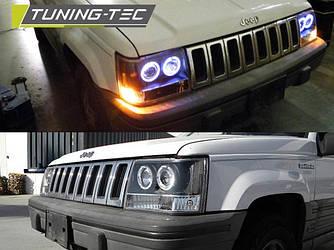 Передние фары Jeep Grand Cherokee ZJ тюнинг оптика