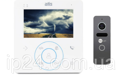 Atis AD-480 W + Neolight Solo бюджетный комплект домофона