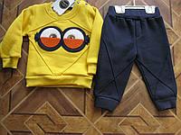 Детский костюм с начесом для мальчика 68-80 см Турция