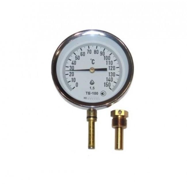 Термометр ТБ-100-50 0 +150-1,5-Про исп.1, осевой