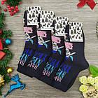 """Носки женские махровые """"Новый год"""" высокие GRAND р23-25 тёмно-синие, фото 2"""