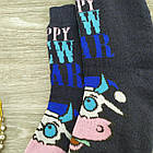 """Носки женские махровые """"Новый год"""" высокие GRAND р23-25 тёмно-синие, фото 5"""