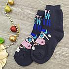"""Носки женские махровые """"Новый год"""" высокие GRAND р23-25 тёмно-синие, фото 3"""