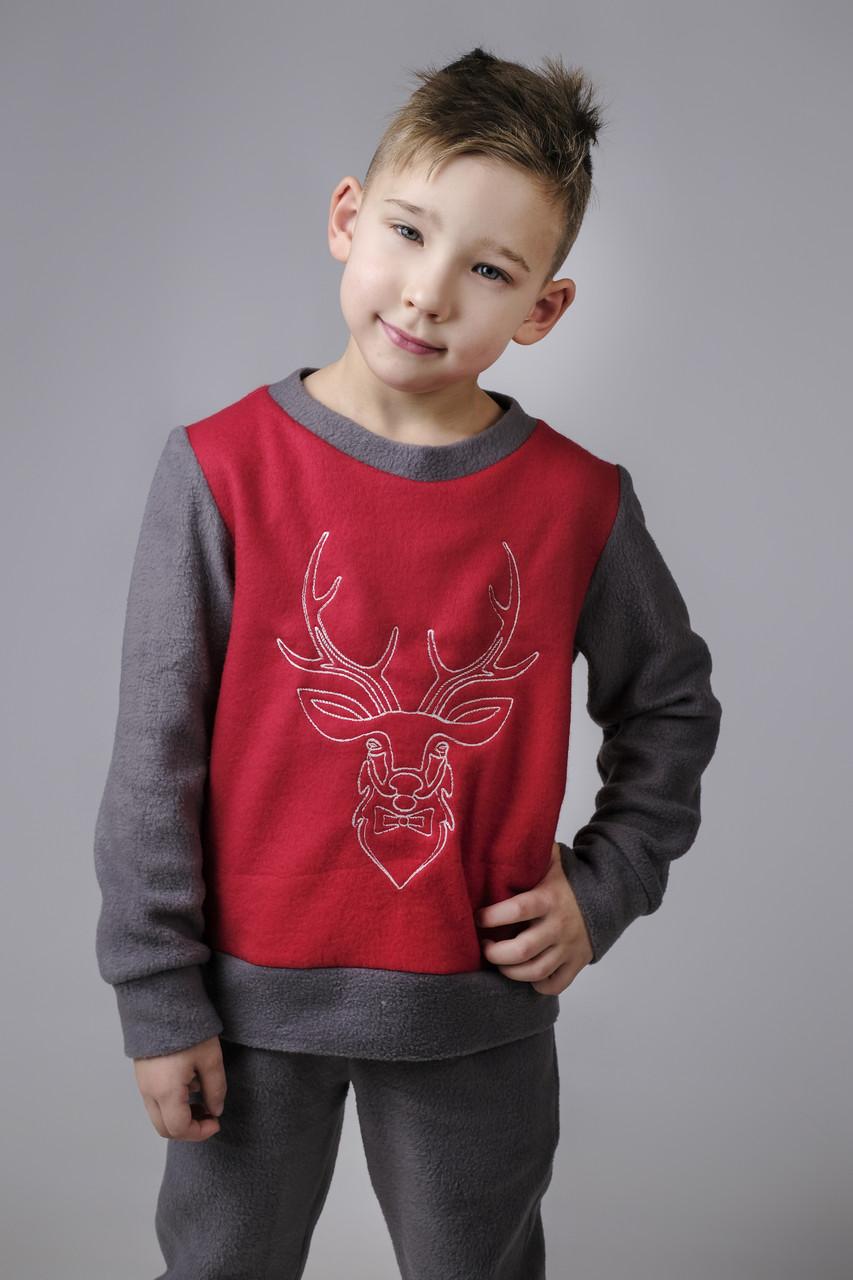 Пижама с оленем для мальчика