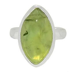 Серебряное кольцо с пренитом, 2569КЦП