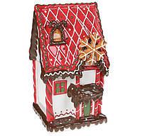 Новогодняя Банка для сладостей керамическая Домик из печенья 3,2л