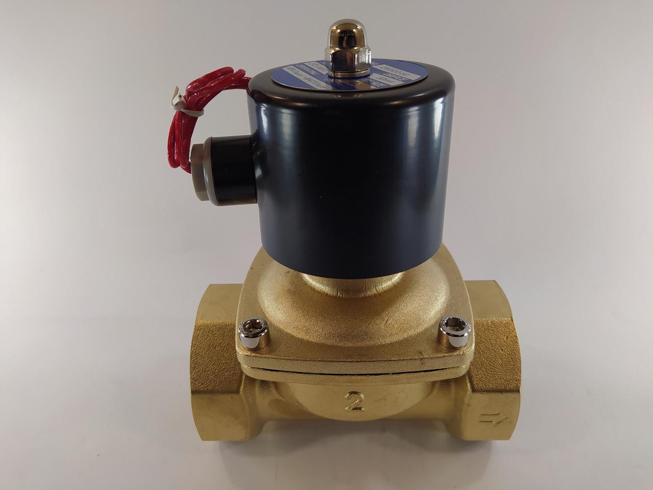 """Электромагнитный клапан 2"""" ДУ50 220В нормально-закрытый"""