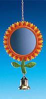 """Зеркальце """"Цветочек"""" Nobby для попугаев и птиц (24 см.), фото 1"""