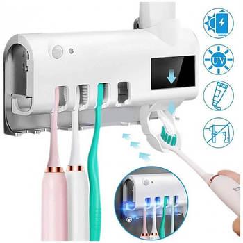 Диспенсер для пасти і щіток з стерелизатором Toothbrush Disinfector