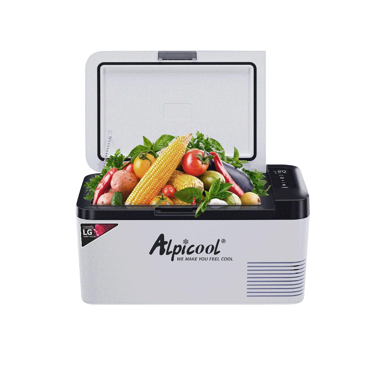 Компресорний автохолодильник Alpicool K18 (18 літрів). Режим роботи  +20℃ до -20℃. 12/24/220V