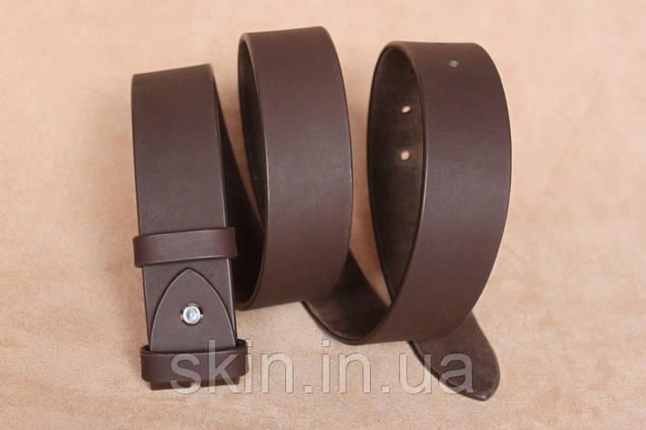 Классический гладкий ремень без пряжки, ширина - 38 мм, цвет - коричневый, артикул СК 9026 кор., фото 2