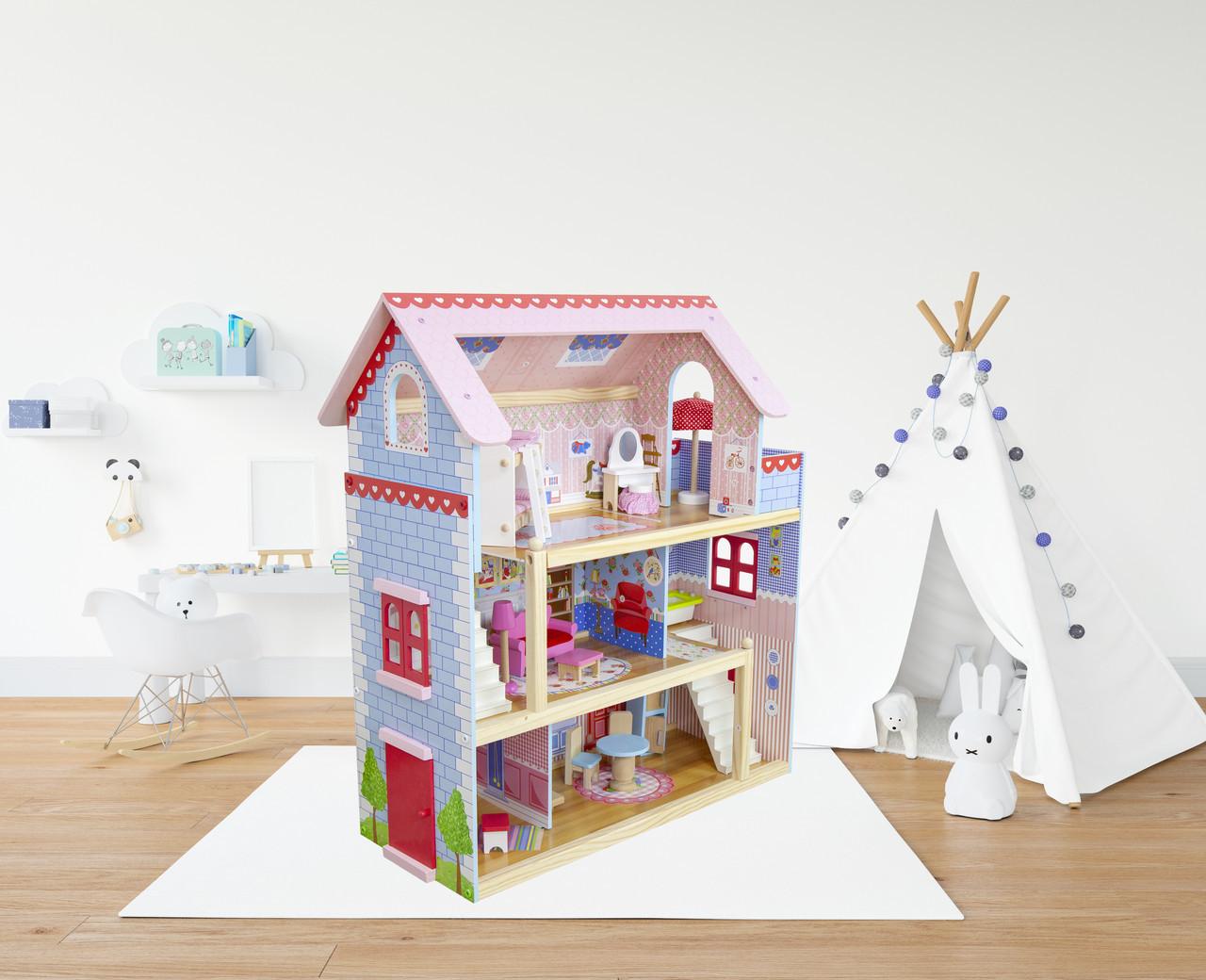 Кукольный домик деревянный Villa Savona Будиночок для ляльок + 2ляльки