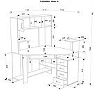 Угловой компьютерный стол - Флеш 33, фото 3