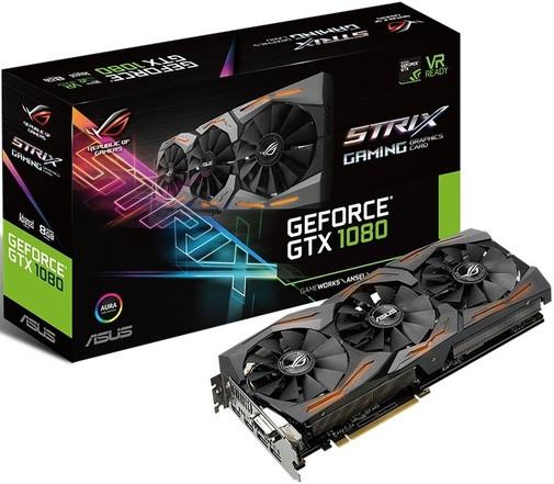 Видеокарта Asus GeForce GTX 1080 ROG Strix 8GB (STRIX-GTX1080-A8G-GAMING)