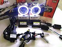 Биксеноновые линзы Cyclone с ангельскими глазками G5 и ксенон установочный комплект с проводкой!