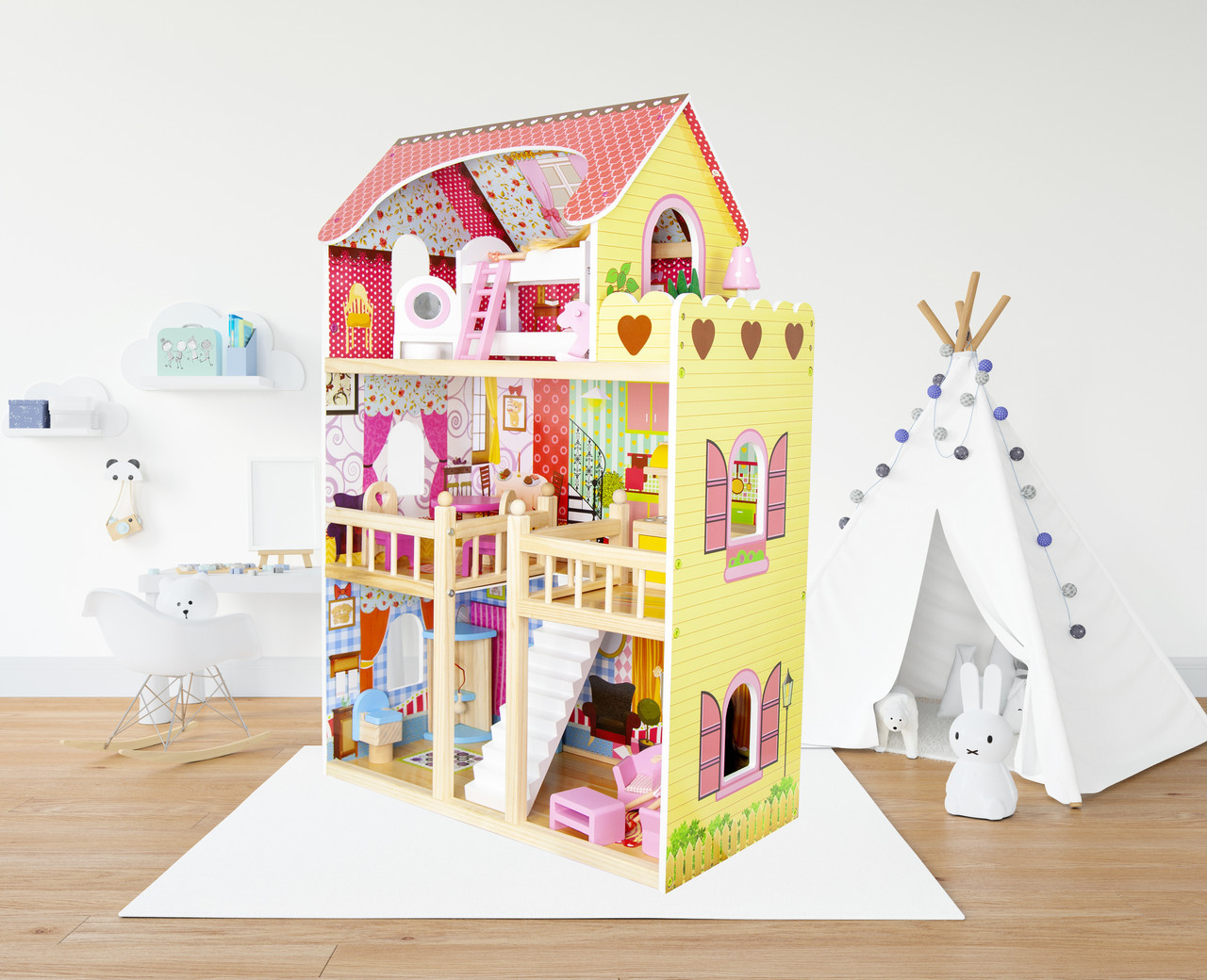 Кукольный домик Villa Waletta деревянный Будиночок для барби