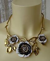 Ожерелье женское колье модное металл ювелирная бижутерия 4166