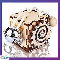Бизикуб от BrainUp 6х6 см игрушка для развития мелкой моторики для детей от 1 года