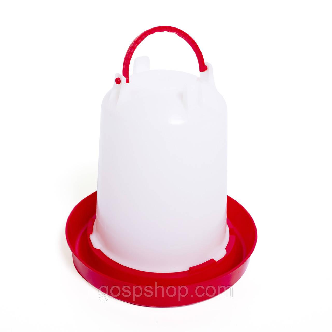 Вакуумная поилка для птенцов пластиковая 3,0 литра