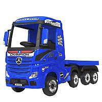 Детский электромобиль Грузовик с прицепом Mercedes (4 мотора по 35W, MP3, USB) Bambi M 4208EBLR-4(2) Синий