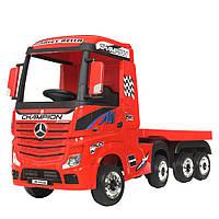 Детский электромобиль Грузовик с прицепом Mercedes (4 мотора по 35W, MP3, USB) Bambi M 4208EBLR-3(2) Красный