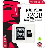 Карта пам'яті 32 Гб Kingston class 10 micro SD 32Gb клас 10 з адаптером