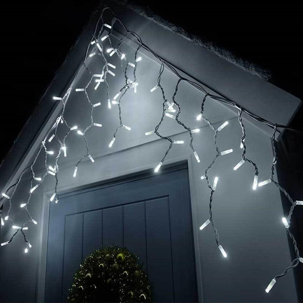 Гирлянда новогодняя уличная Xmas «Сосульки-Бахрома» 10 х 1.5 м светодиодная led