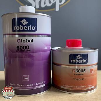 Лак акрилово-полиуретановый Roberlo Global 6000 2:1 HS, 1 л + 500 мл Комплект