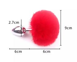 Интимная игрушка анальная пробка с мехом