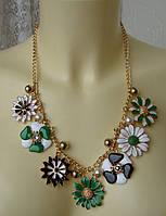 Ожерелье женское колье модное металл ювелирная бижутерия 4169