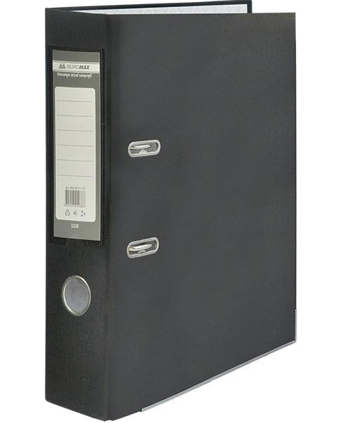 Папка реєстратор LUX одностороння JOBMAX A4, 70 мм, чорна (BM3011-01C)