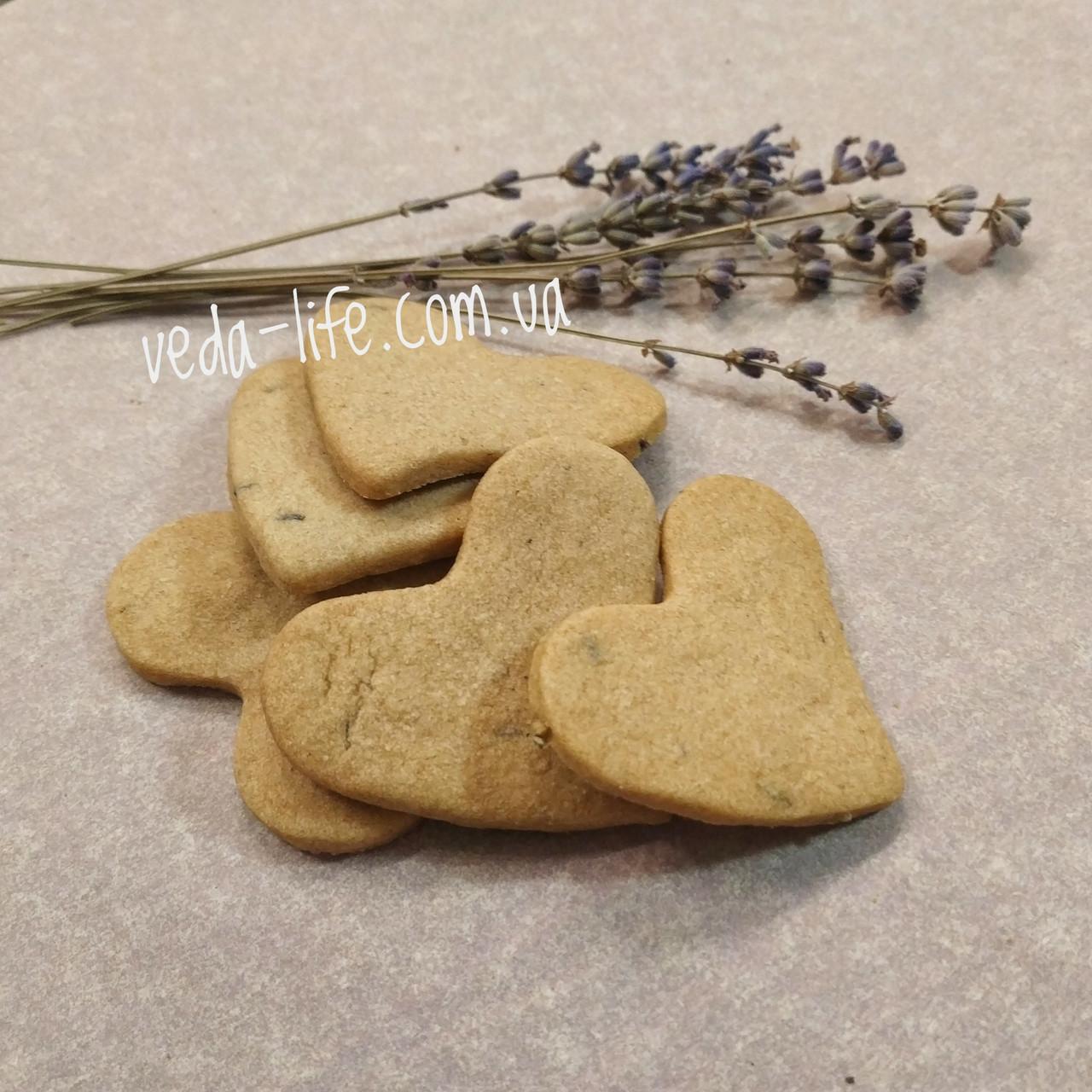 Печиво Лавандове. Лавандовое печенье. Печенье с кулинарной Лавандой на коричневом сахаре и масле Гхи. 5 шт