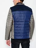 Мужская куртка D9118 серо-синяя, фото 3