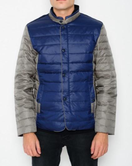 Мужская куртка D9118 серо-синяя