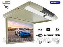 Потолочный телевизор монитор в авто Super Slim  17 дюймов  Full HD (1920x1080)  Читает все форматы с флешки