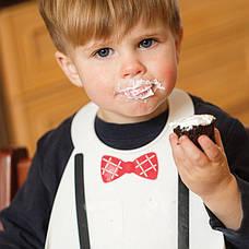 Нагрудник little genius-white, фото 2
